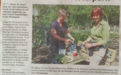 Gezond Natuur Wandeling 18 mei bij Nemo, Westerpark, Amsterdam