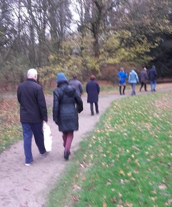 wandeling 7 december in het Flevopark, Amsterdam