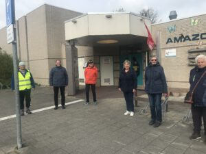 wandelgroep bij buurtcentrum in Hoofddorp