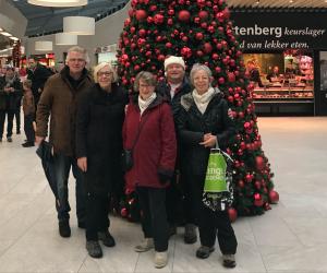 wandelgroep voor de kerstboom
