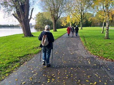 GNW-wandelgroep in Sloterpark