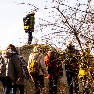 wandelaars in Nationaal Park Zuid-Kennemerland