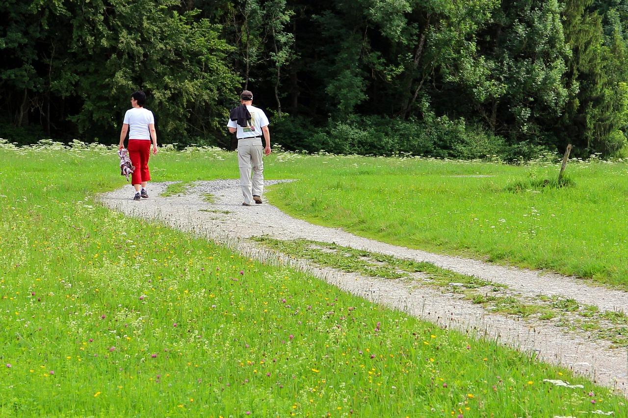 twee wandelaars
