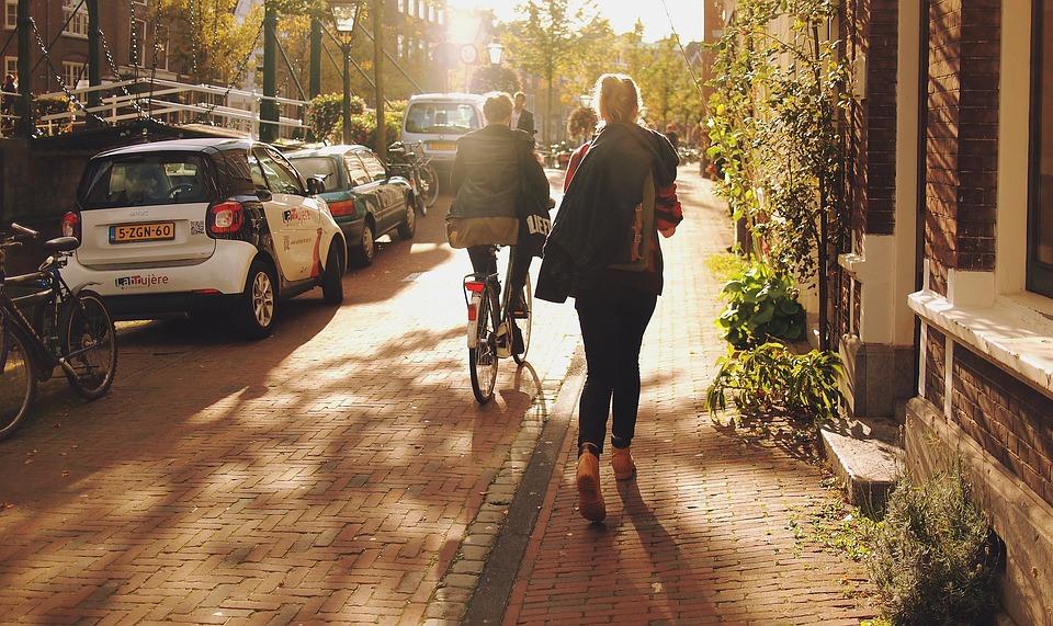 wandelaarster Leiden
